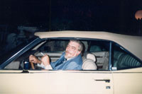 Larry in his Cadillac, 1989