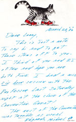 A 1986 letter from Michael Skinner to Larry.