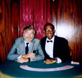 Larry with Michael Vincent at the Magic Castle, 1989