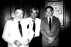 Larry with Jim Patton and Gordon Bruce at the Magic Castle