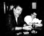 Marc Caplan and Larry Jennings at the Magic Castle, 1989
